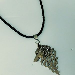Silver Plated Wolf's Head Necklace